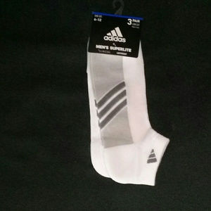 adidas Climacool Ankle Socks 3 Pack  White Grey